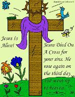 Easter Resurrection Jesus Is Alive Cross Cartoon Clipart Picture by Church House Collection©