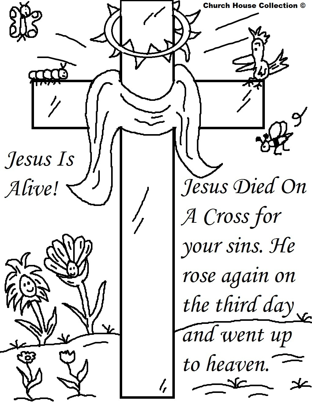 jesus cross coloring pages - photo#34