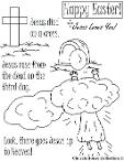 Easter Coloring Pages- Easter Resurrection coloring pages- Jesus resurrection coloring pages