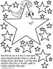 Jesus Is The Bright And Morning Star Coloring Page