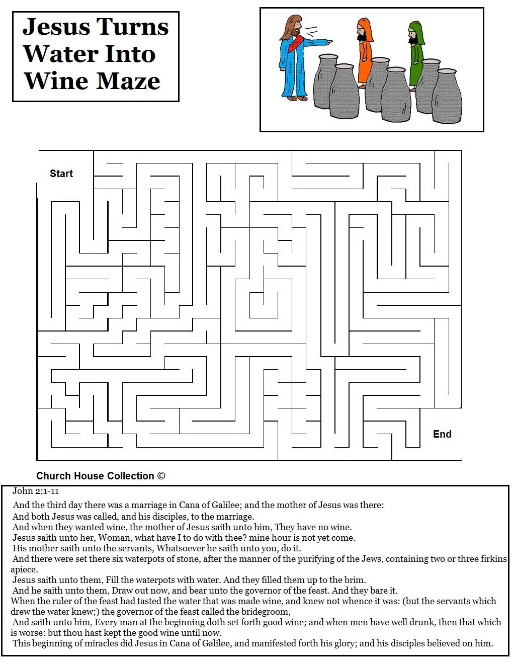 Jesus Turns Water Into Wine Sunday School Lesson