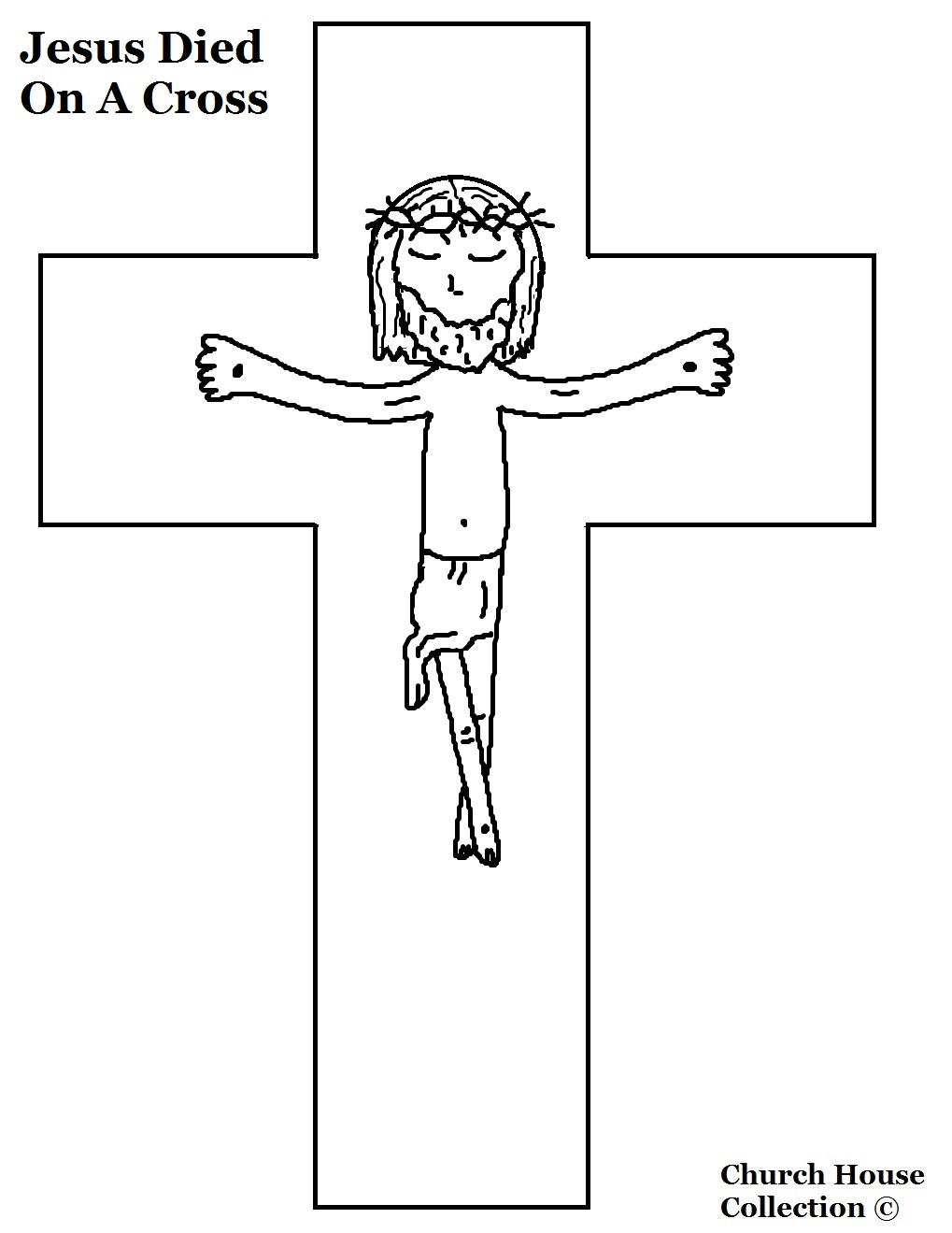 jesus cross coloring pages - photo#20
