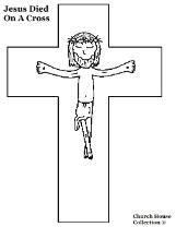 Jesus Died on the cross coloring page