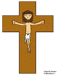 Jesus Died on the cross cutout craft