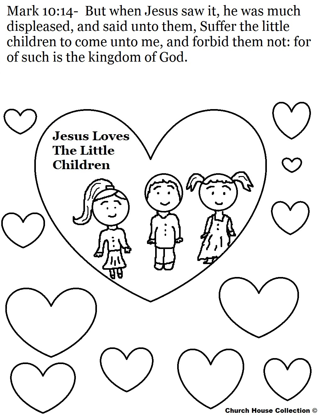 Coloring Pages Jesus And The Children Coloring Pages jesus loves children sunday school lesson the little coloring page