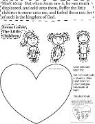 Jesus loves the little children activity sheet for kids cutout page