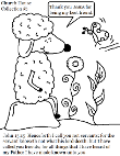 Sheep Coloring Page. John 15:15 Bible Sunday School Coloring Page for kids.