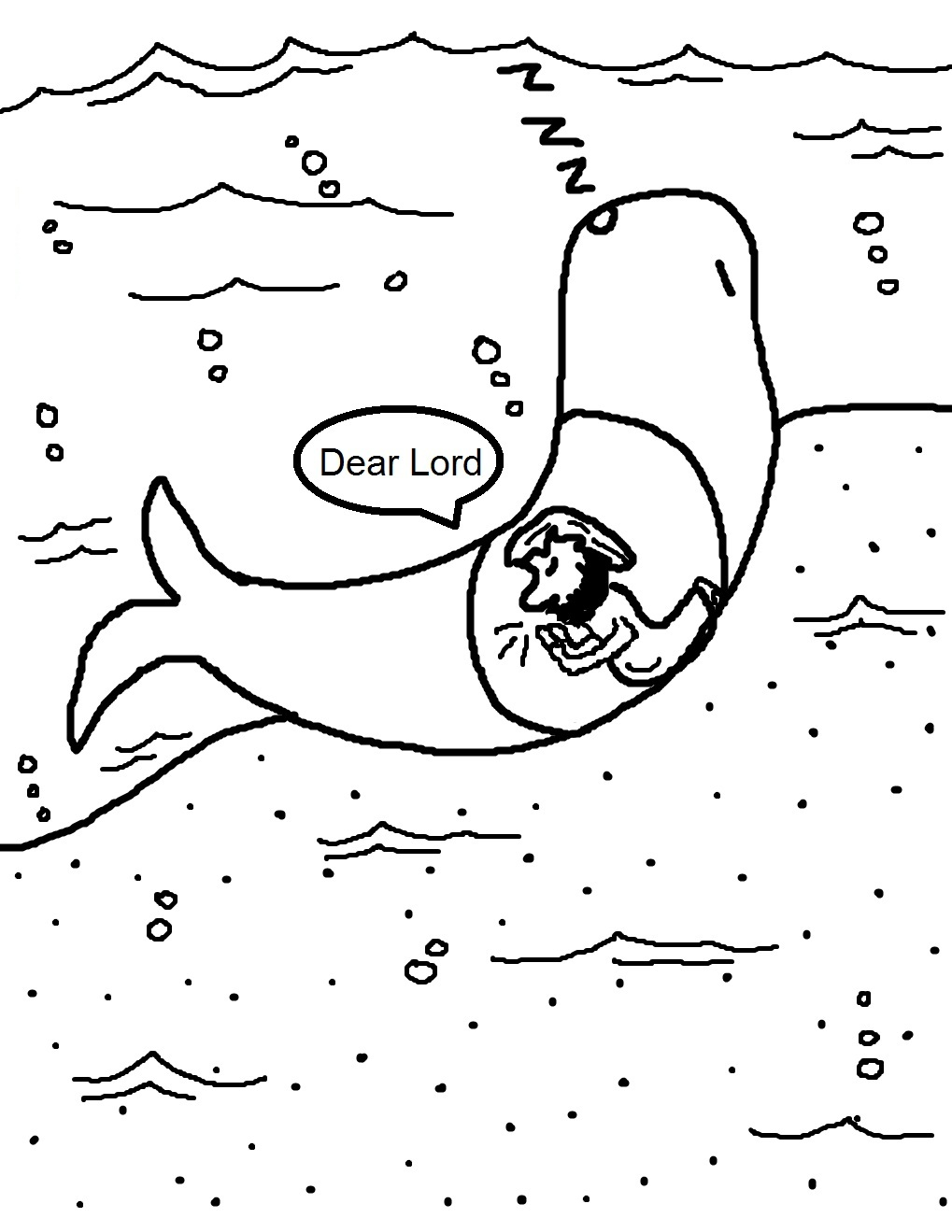 clip art jonah and the big fish coloring page mycoloring free