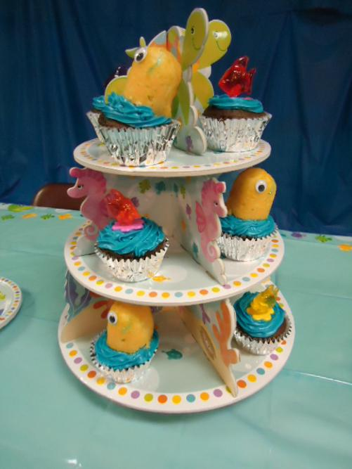 Jonah and The Whale VBS Idea- Whale cupcakes-fish cupcakes