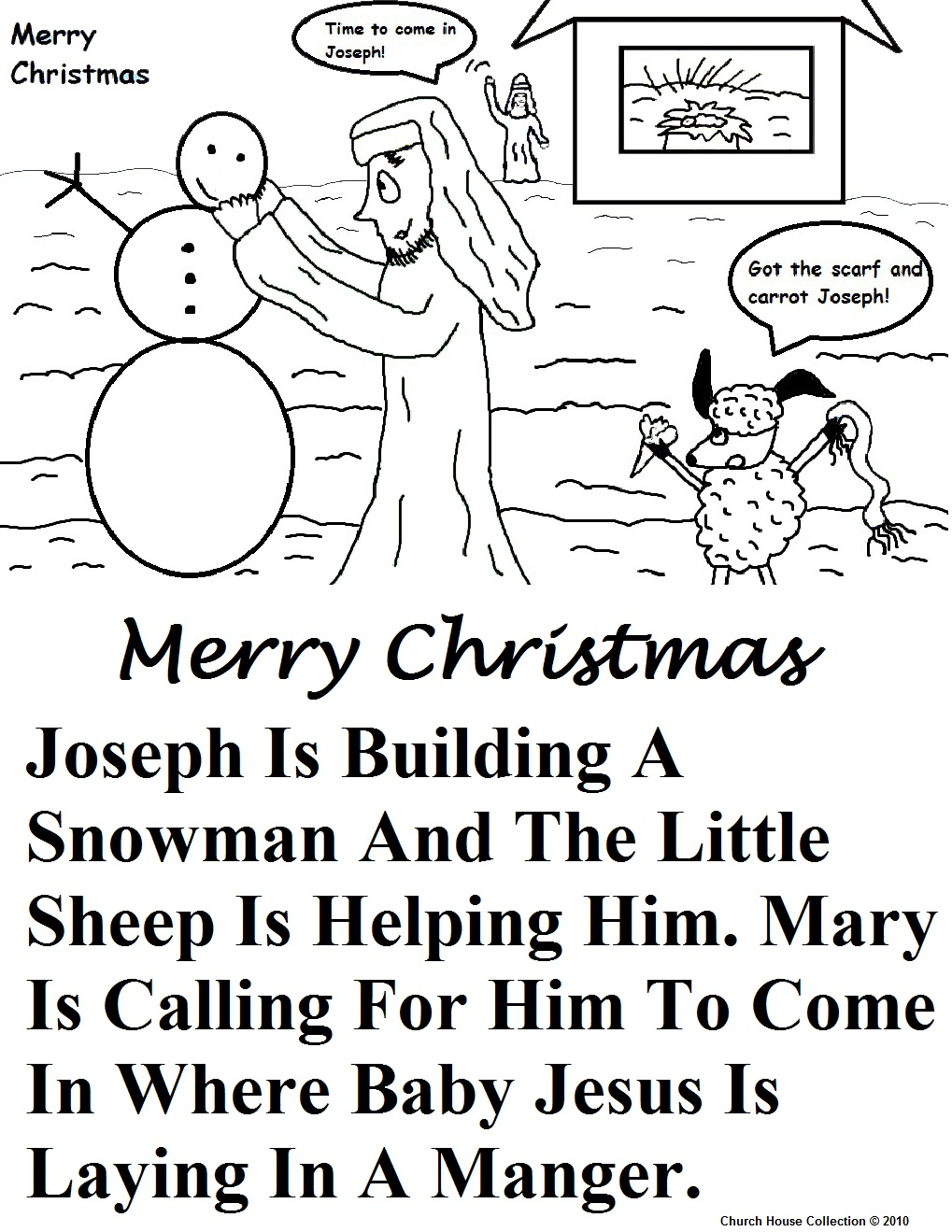 birth of coloring page - Mary Baby Jesus Coloring Page