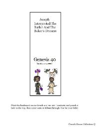 Joseph Interprets Butler and baker's dreams bookmark