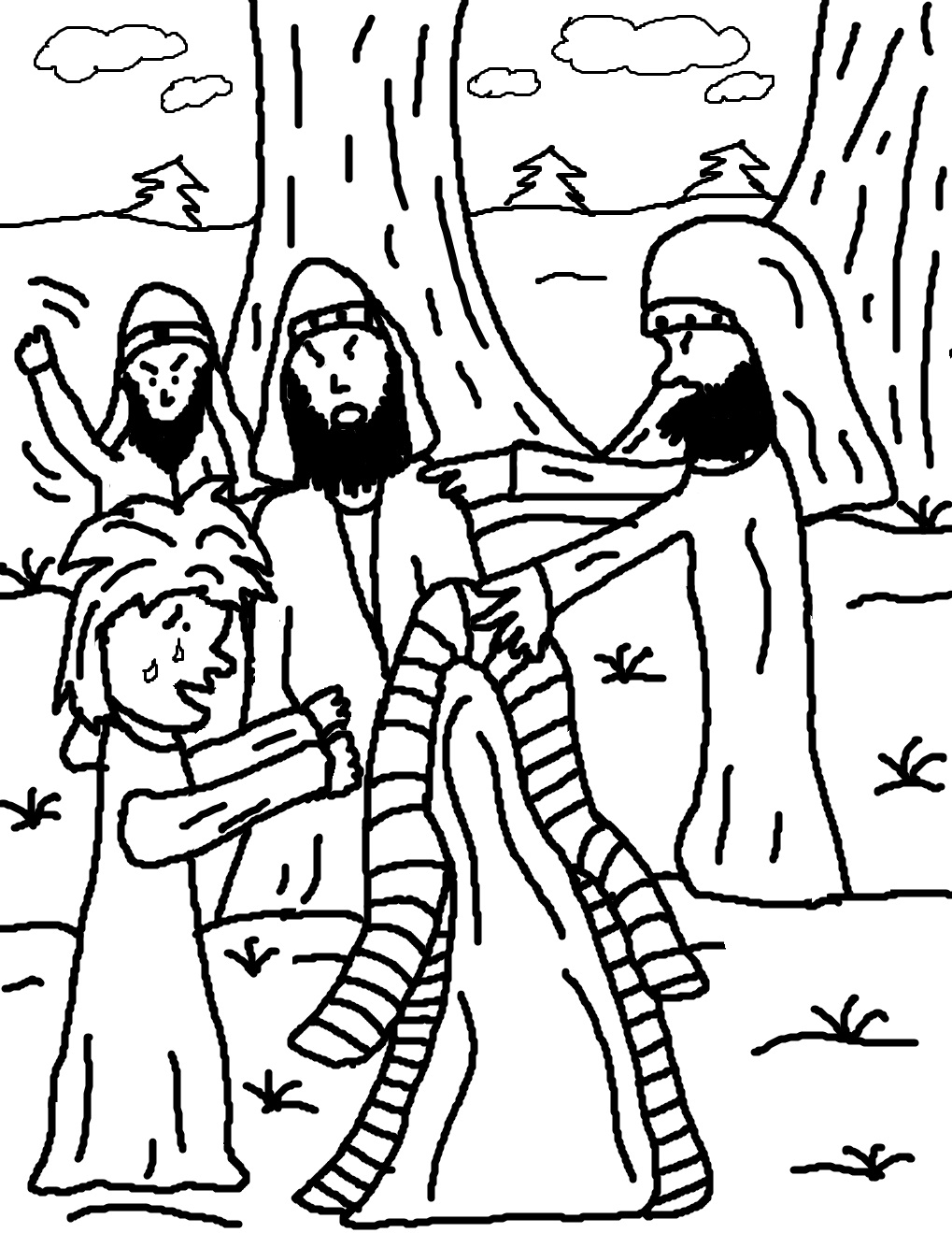 Josephs Coat of Many Colors Coloring Pages