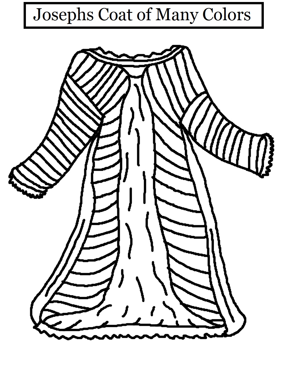 Episcopal Kids November 2011 Coloring Page Coat Of Many Colors