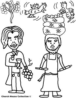 Josephs Coat Of Many Colors Butler and Baker Dreams Coloring Page