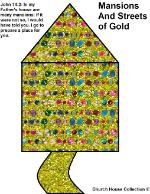 Mansions and streets of gold clipart picture image