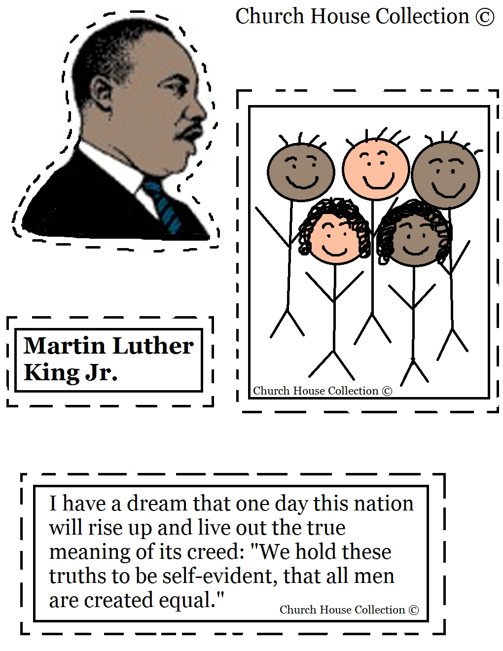 Martin Luther King Kindergarten Printables | Search Results | Calendar ...