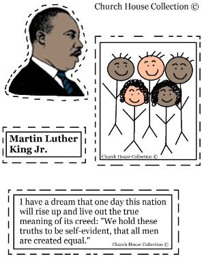 Martin Luther King Jr Crafts Cutout Activity