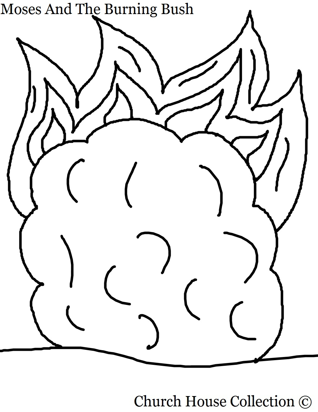 Coloring Pages Moses And The Burning Bush Coloring Pages moses and the burning bush coloring pages with words page