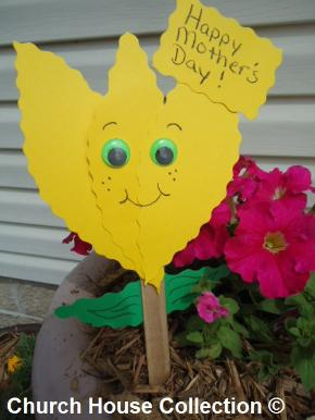 Mother's Day Flower Craft Plant Stake For Kids