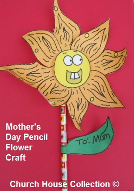 Mother 39 s Day Pencil Flower Craft
