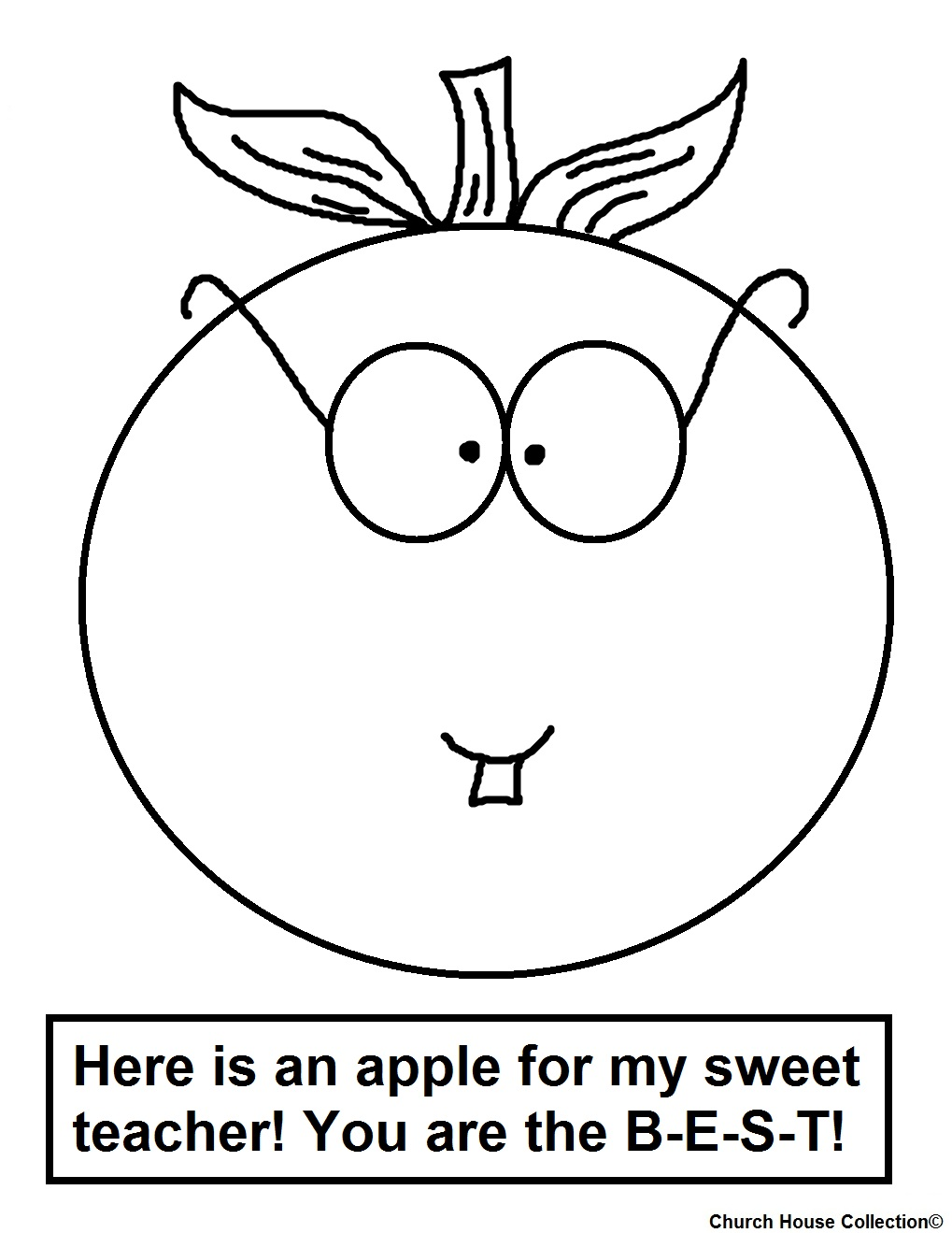 Here Is An Apple For My Sweet Teacher You Are The Best