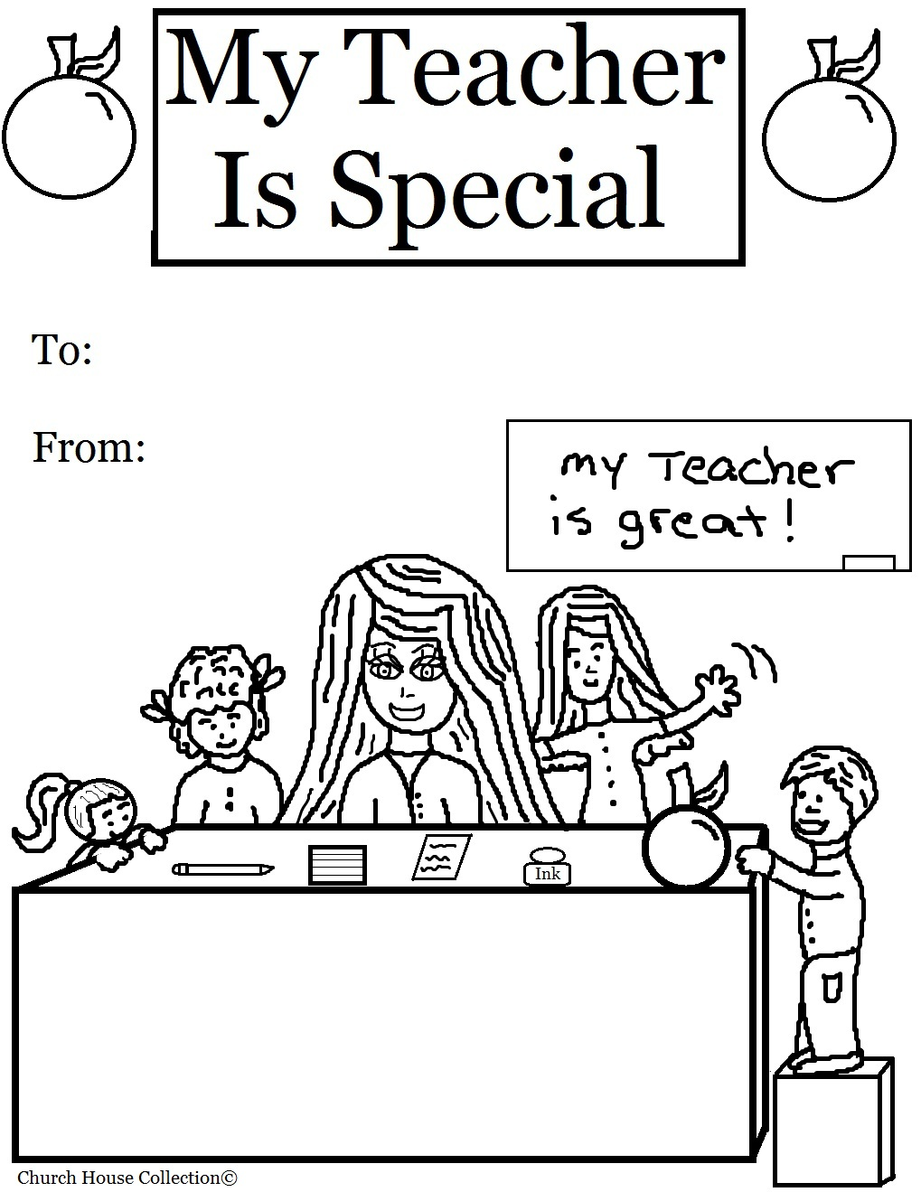 My teacher is special coloring pages for Coloring pages of teachers