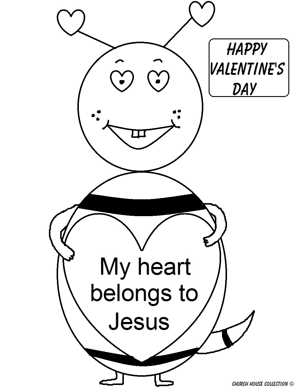 jesus valentine coloring pages - photo#5