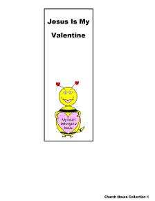 My heart belongs to Jesus bookmarks Happy Valentine's Day Bee For Sunday school or Children's Church