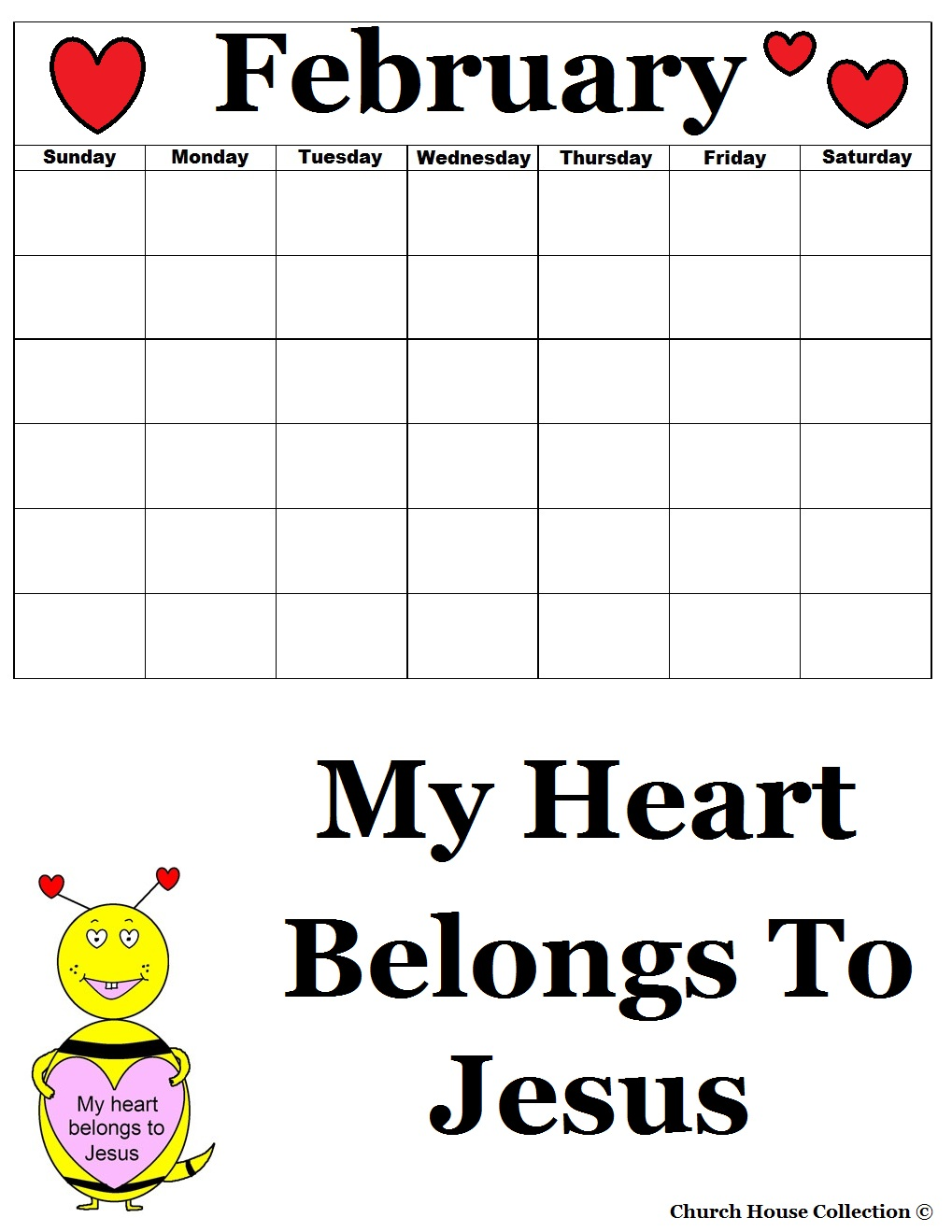 sunday school calendar template - my heart belongs to jesus sunday school lesson