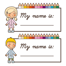 Free Printable Name Tags For Children's Church Kids