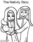 The Nativity Story Coloring Page- Christmas The Birth of Jesus Coloring Pages