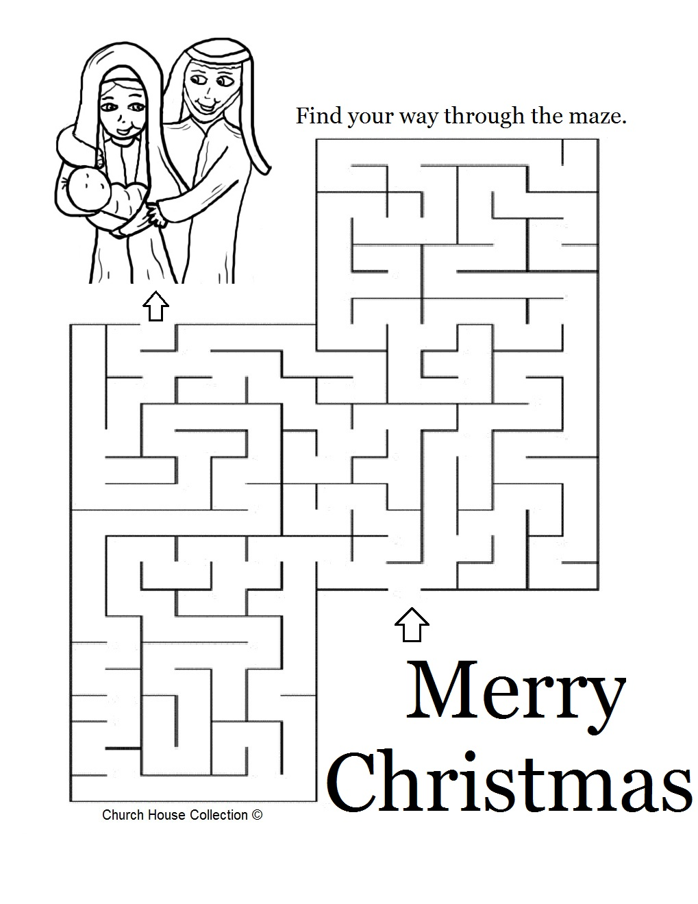 christmas coloring pages and mazes - photo#26