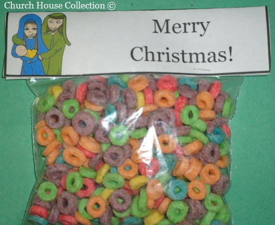 Free Christmas Snack Ideas For Kids In Sunday School or Children's Church By Church House Collection- Free Printable Ziplock Baggie Printable Templates