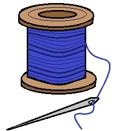 Needle and Thread Clip Art Clipart
