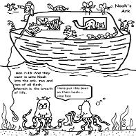 Noahs Ark Coloring Pages for Sunday School Kids