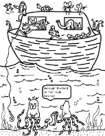 Noahs Ark Coloring Pages for Sunday School Kids.