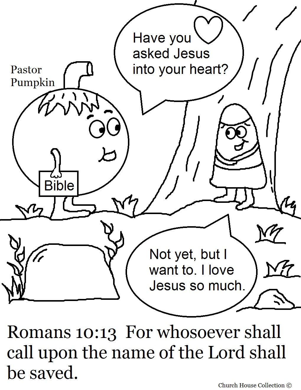 halloween sunday school coloring pages - photo#24