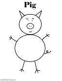 Pig Coloring Page- Animal Coloring Pages For Kids