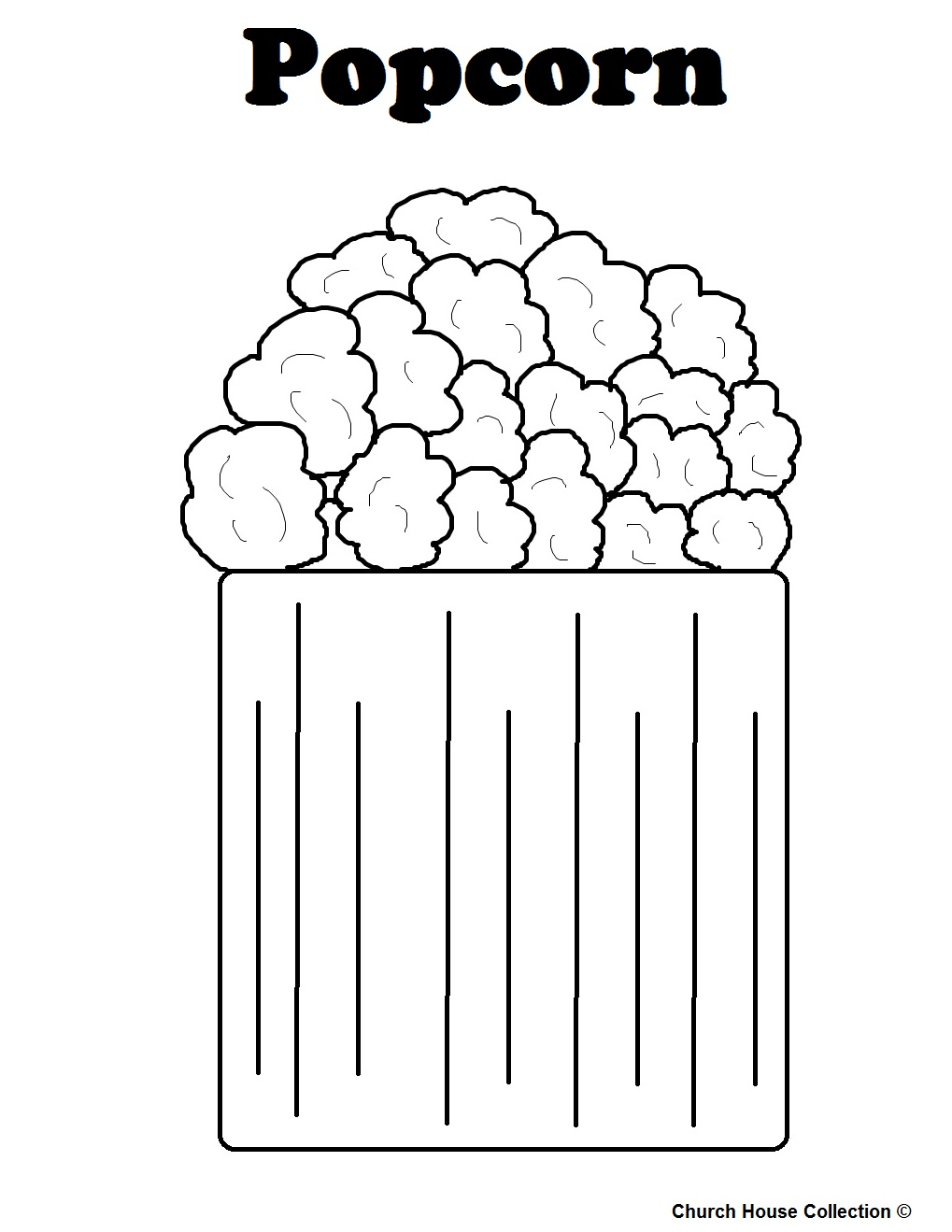 popcorn printable coloring pages - photo#20