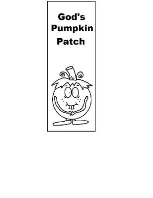 Pumpkin Bookmark printable Gods Pumpkin Patch Sunday school lesson- Fall Pumpkin Bookmark Printable Template Cutout Activity For Kids by Church House Collection
