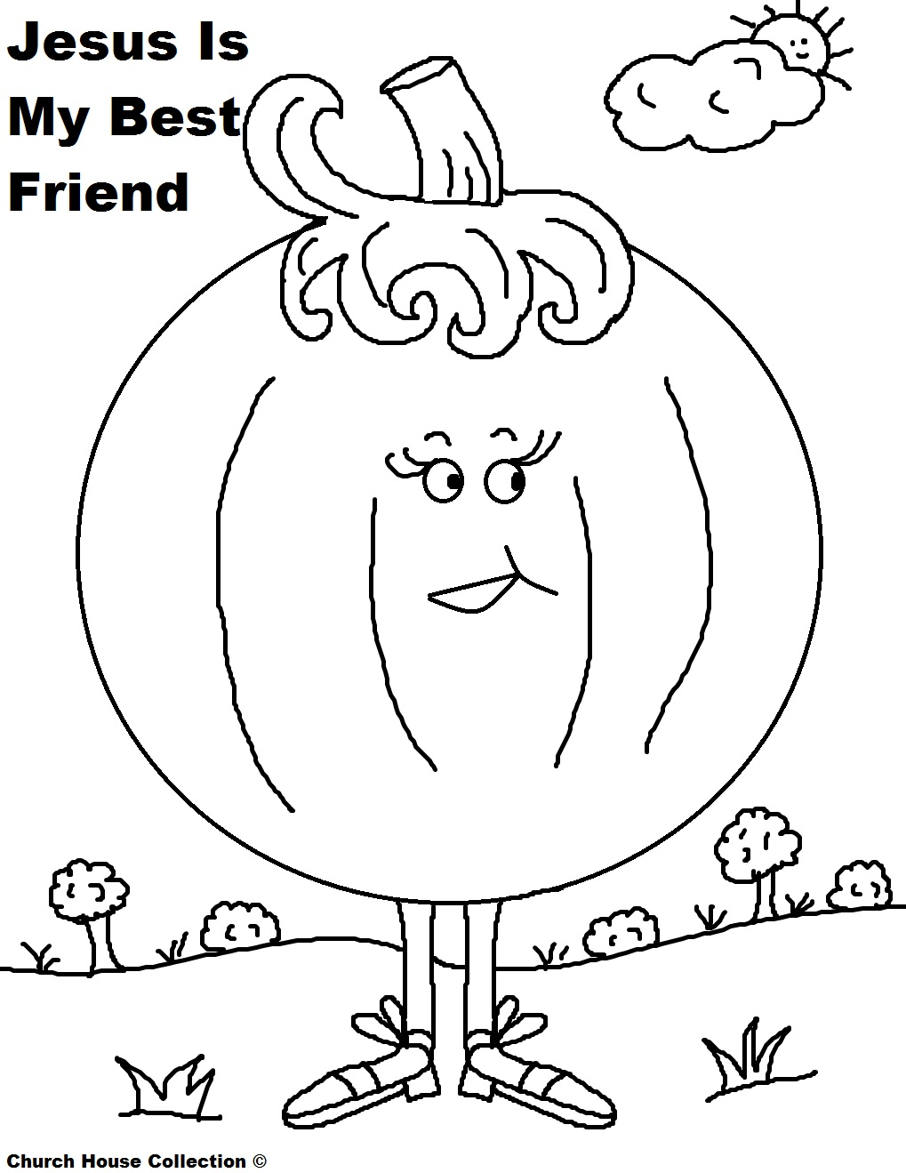 Pumpkin Coloring Page Jesus Is