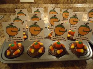 Pumpkin Cupcakes- Pray Without Ceasing by Church House Collection