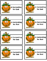 Pumpkin Harvesting For God Name Tags