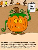 Pumpkin Coloring Pages Pumpkin Holding Bible Coloring Page