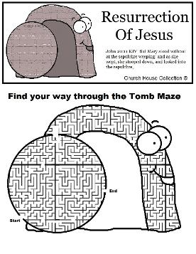 Resurrection Of Jesus Tomb Maze