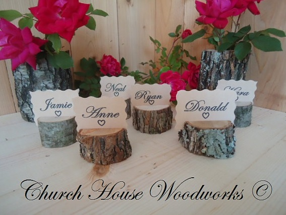 Rustic Table Number Holders For Rustic Weddings Wood Place Card Holders