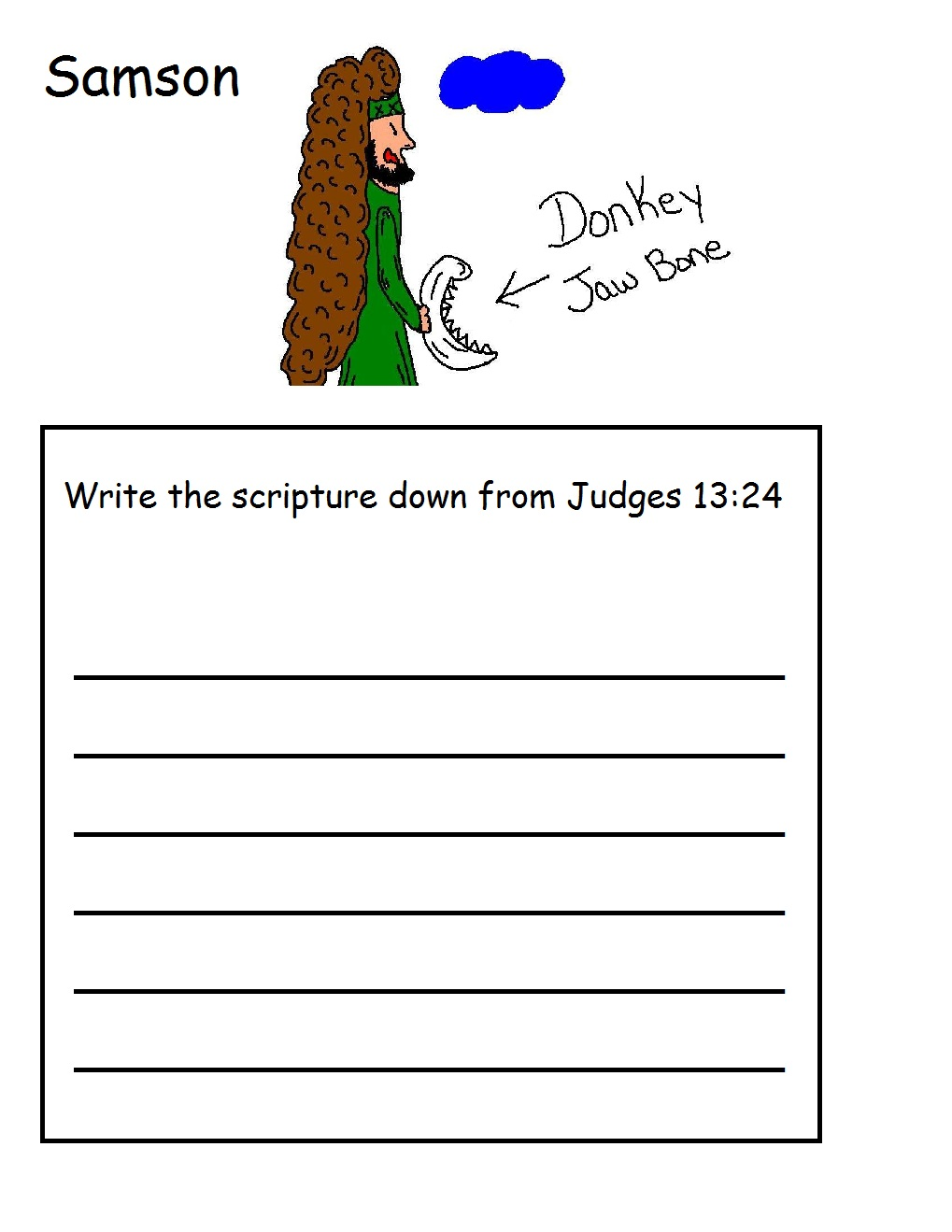 samson and delilah coloring pages eume - Samson Delilah Coloring Pages