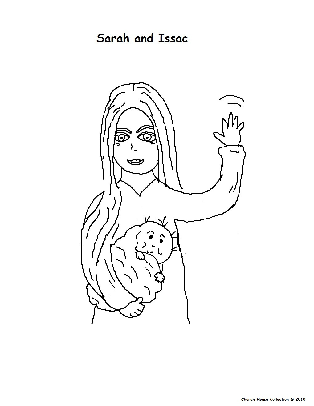Colouring Page Of Sarah And Baby Isaac At Churchhousecollection Resources Sarah20and20Issac20coloring20page
