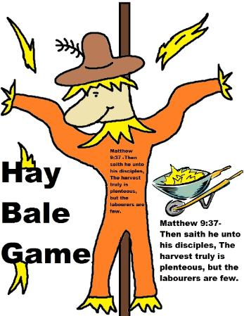Scarecrow Hay Bale Game Fall Festival Church Decorating Ideas Booth Ideas