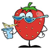 Kindergarten missing letter worksheets for kids. Strawberry Fruit.